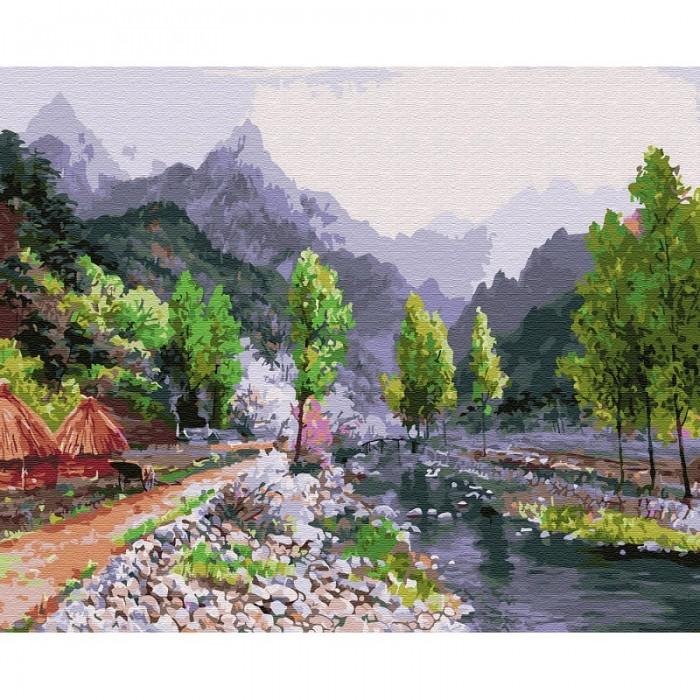 Картины по номерам Molly Картина по номерам Сунг Ли. Весна в горах 40х50 см