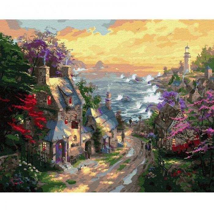 Фото - Картины по номерам Molly Картина по номерам Деревня у берега моря 40х50 см картина по номерам molly 40х50 см отражение