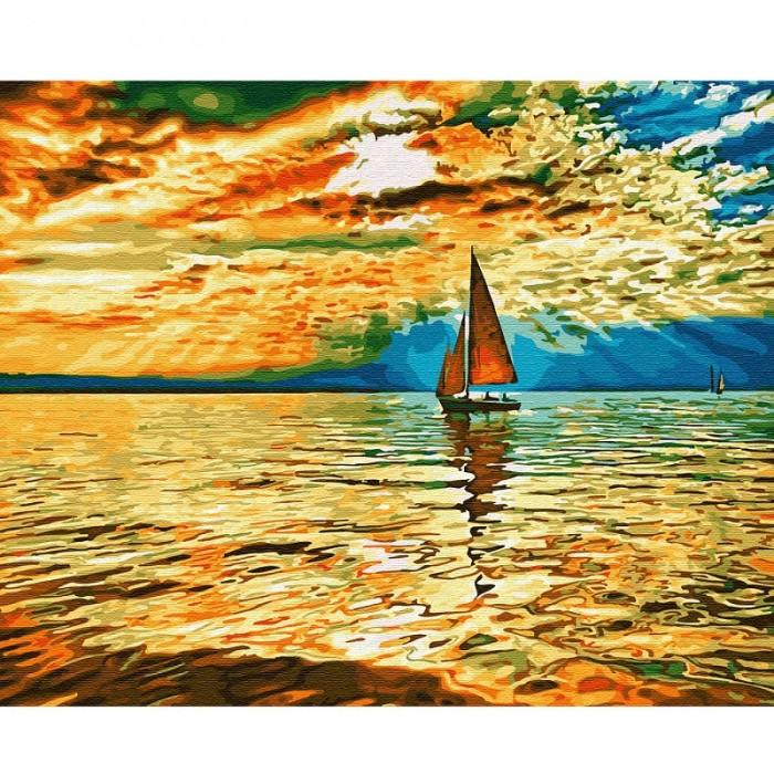Картины по номерам Molly Картина по номерам Заход солнца 40х50 см
