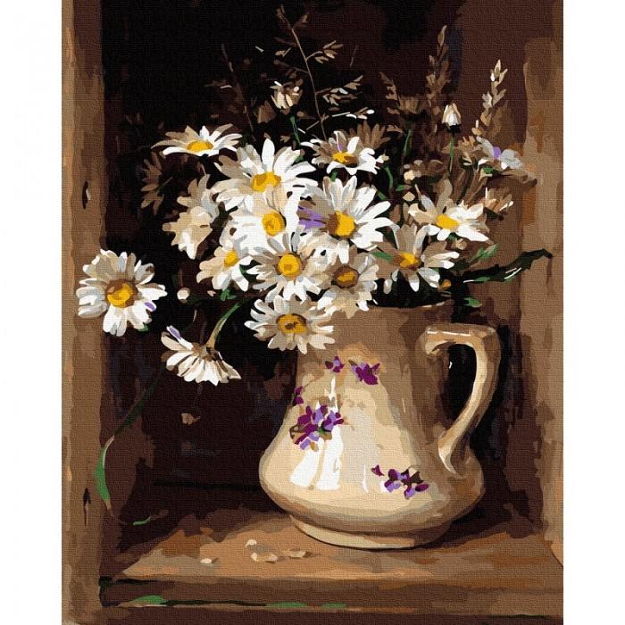 Фото - Картины по номерам Molly Картина по номерам Ромашки в кувшине 40х50 см картина по номерам molly 40х50 см отражение