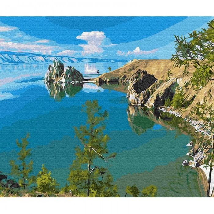 Фото - Картины по номерам Molly Картина по номерам Озеро Байкал 40х50 см картина по номерам molly 40х50 см отражение