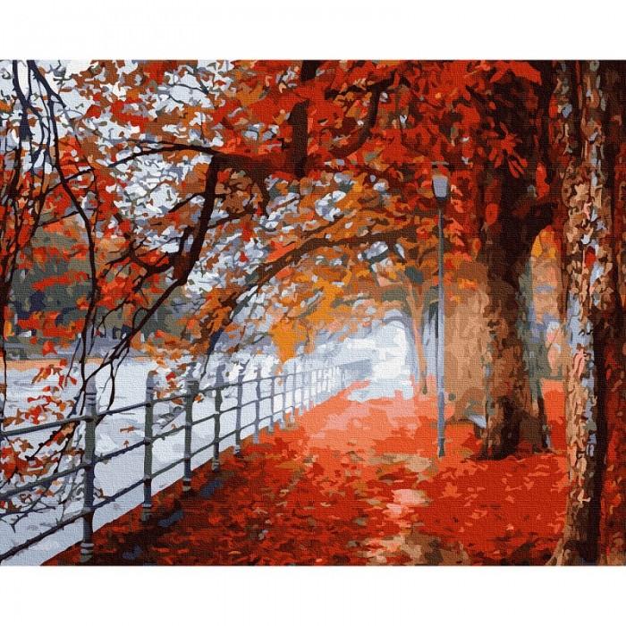 Фото - Картины по номерам Molly Картина по номерам Осенний парк 40х50 см KH0937 картина по номерам molly 40х50 см отражение