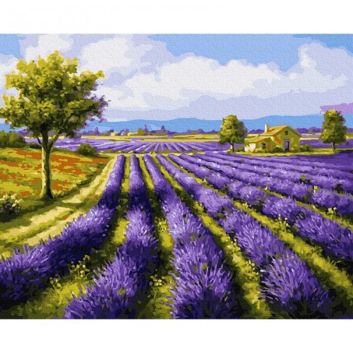 Картины по номерам Molly Картина по номерам Лавандовое поле 40х50 см