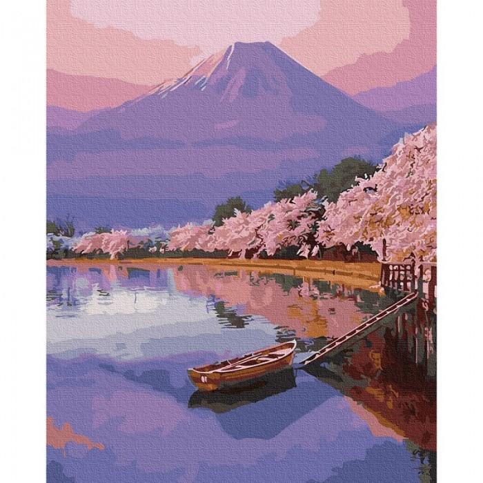 Картины по номерам Molly Картина по номерам Озеро в Японии 40х50 см