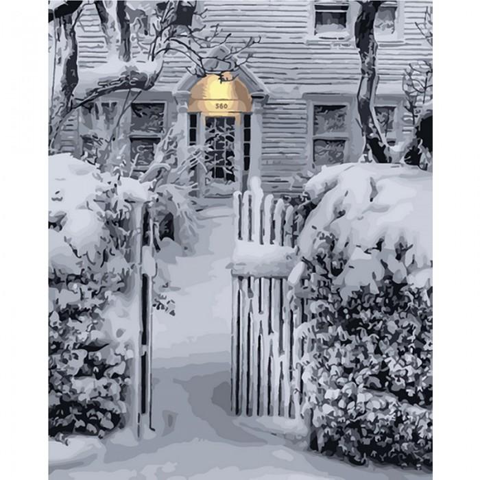 Картины по номерам Molly Картина по номерам Белый снег украсил город 40х50 см