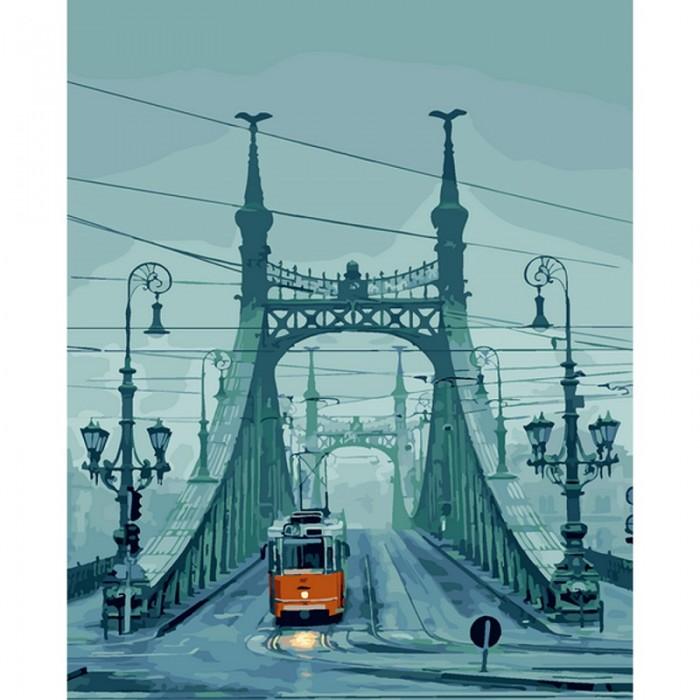 Картины по номерам Molly Картина по номерам Будапешт Мост Свободы 40х50 см