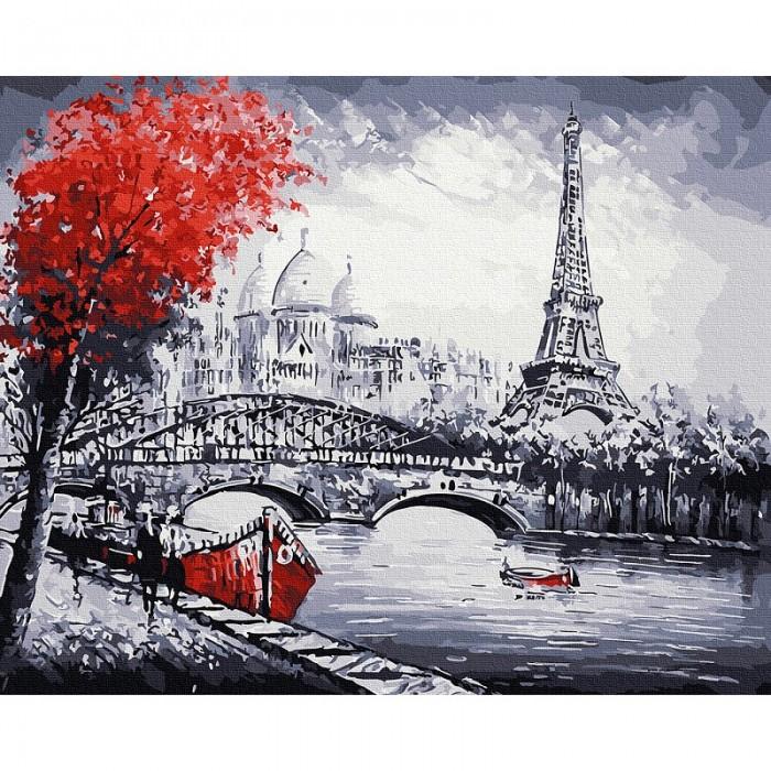 Картины по номерам Molly Картина по номерам Парижский пейзаж 40х50 см