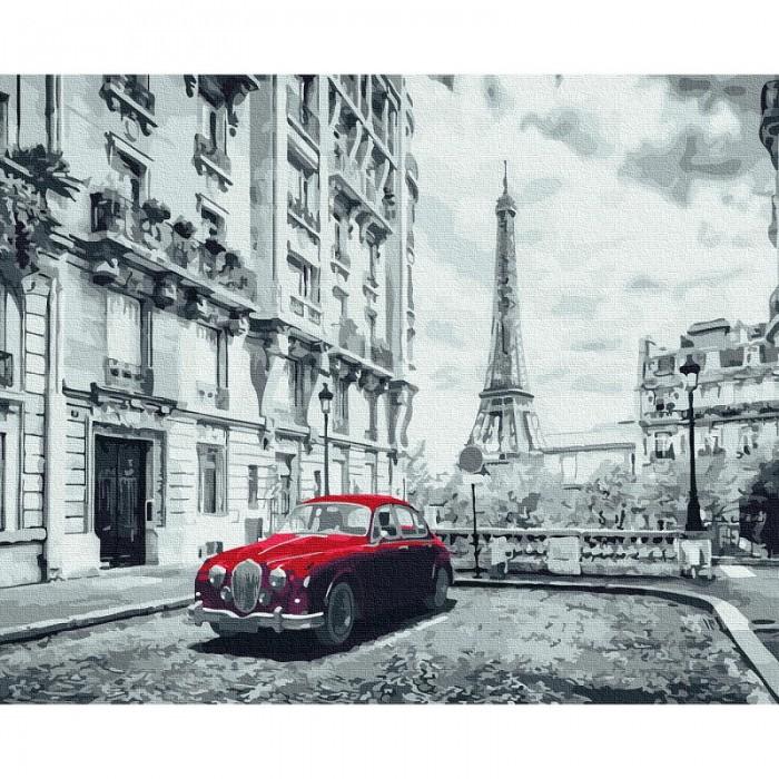 Картины по номерам Molly Картина по номерам Авто на улице Парижа 40х50 см