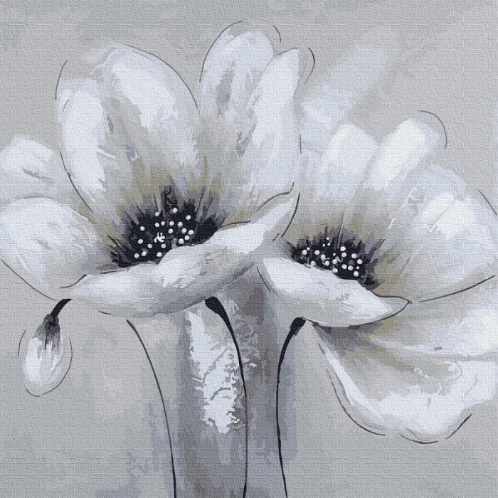 Картины по номерам Molly Картина по номерам Белые цветы 30х30 см