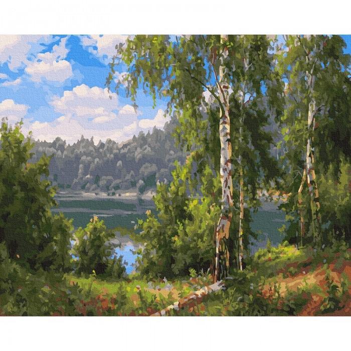 Картины по номерам Molly Картина по номерам Прищепа. Лесное озеро 40х50 см картины по номерам molly картина по номерам прищепа тишина 40х50 см