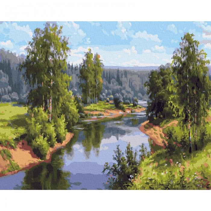 Картины по номерам Molly Картина по номерам Прищепа. Проточная река 40х50 см картины по номерам molly картина по номерам прищепа тишина 40х50 см