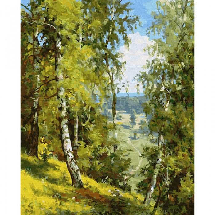 Картины по номерам Molly Картина по номерам Прищепа. Березы в лесу 40х50 см картины по номерам molly картина по номерам прищепа тишина 40х50 см