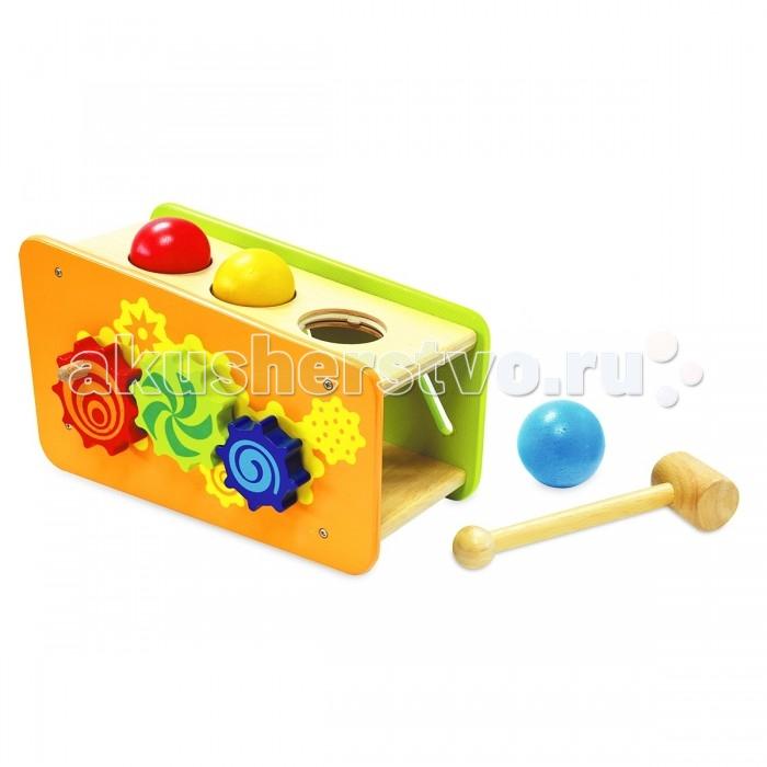 Музыкальная игрушка Im toy СтучалкаСтучалкаIm toy Стучалка станет прекрасным подарком для вашего малыша. Она яркая, красочная и интересная, ведь имеет в себе множество игровых элементов, которые можно изучать долгое время.  Особенности: сделана исключительно из безопасных и экологически чистых материалов стучалка выполнены в виде геометрической фигуры с шестью гранями, на каждой из которых есть игровой элемент все цвета красочные и сочные. Они привлекут внимание малыша в комплект входит молоточек на одной стороне есть вращающиеся детали-многогранники различного размера и цвета на противоположной стороне имеется змеевидная дорожка, по которой движется яркая деталь на боковой грани находится три отверстия, в которые можно вкладывать цветные шарики и проталкивать их внутрь, стуча молоточком еще одни интересная деталь - ксилофон, по которому также можно стучать молотком<br>