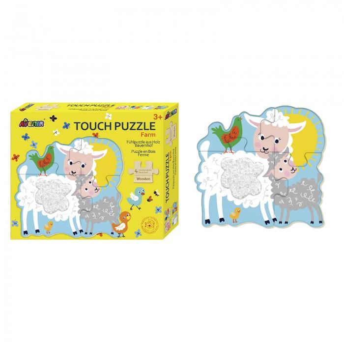 Картинка для Деревянная игрушка Avenir Пазл для малышей с текстурными вставками Животные фермы