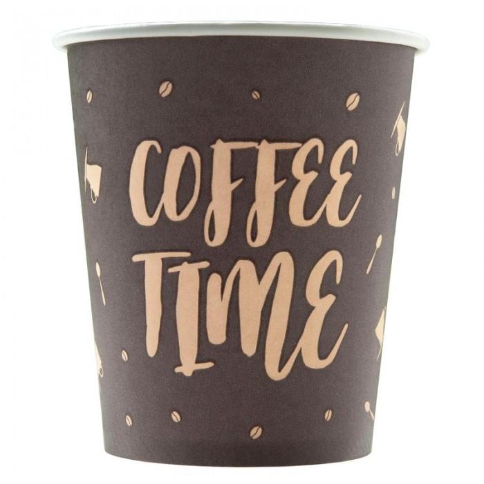 Купить Товары для праздника, Комус Стакан одноразовый бумажный Coffee Time 250 мл 75 шт.