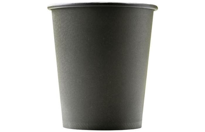 Купить Товары для праздника, Комус Стакан одноразовый бумажный Total Black 250 мл 75 шт.