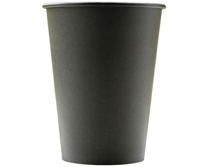 Купить Товары для праздника, Комус Стакан одноразовый бумажный Total Black 300 мл 50 шт.