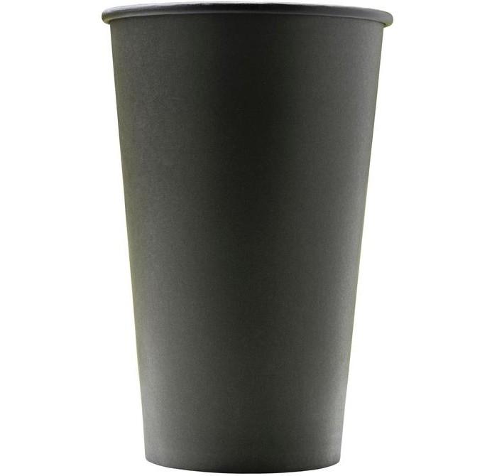 Купить Товары для праздника, Комус Стакан одноразовый бумажный Total Black 400 мл 50 шт.