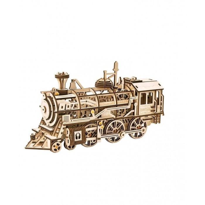 Сборные модели Rokr Локомотив с механическим заводом (349 деталей)