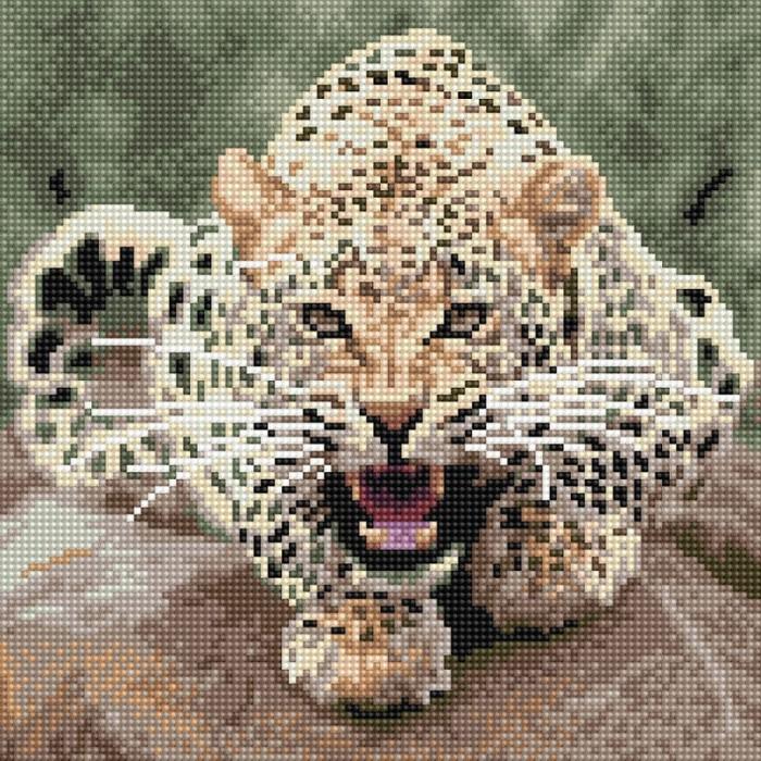 Molly Картины мозаикой Леопард 30х30 см