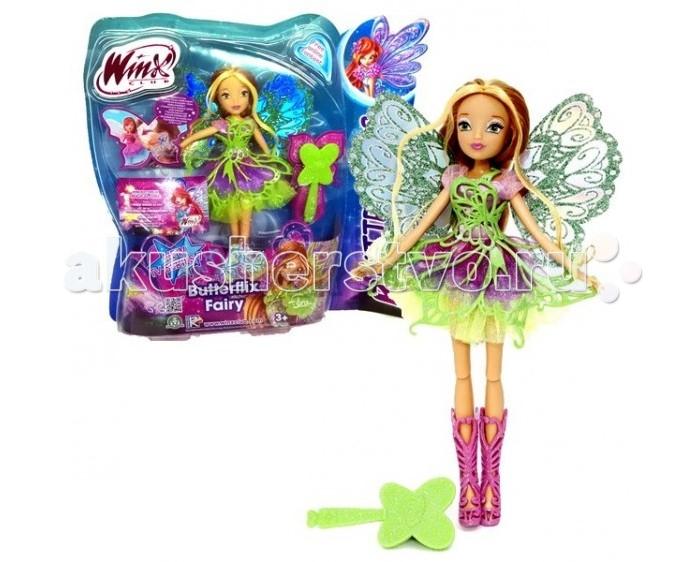 Куклы и одежда для кукол Феи Винкс (Winx Club) Кукла Баттерфликс Флора 27 см gulliver кукла баттерфликс 2 двойные крылья flora winx club