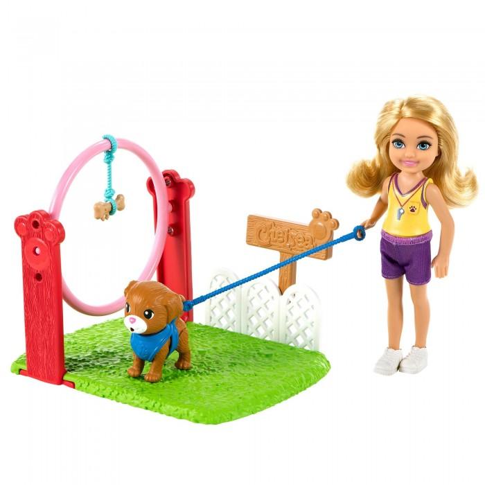 Купить Куклы и одежда для кукол, Barbie Игровой набор кукла Челси Дрессировщик собак с питомцем и игровой площадкой