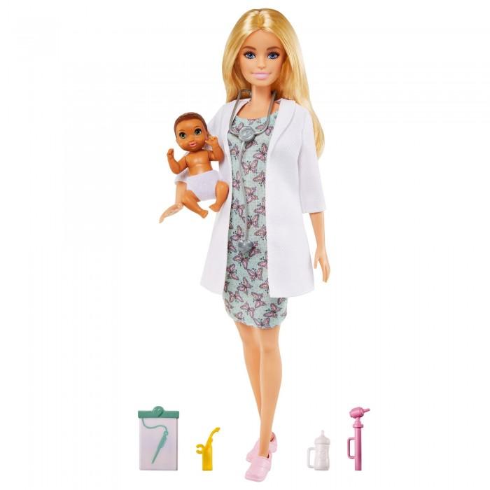 Купить Куклы и одежда для кукол, Barbie Игровой набор Кукла Барби доктор педиатр с малышом пациентом