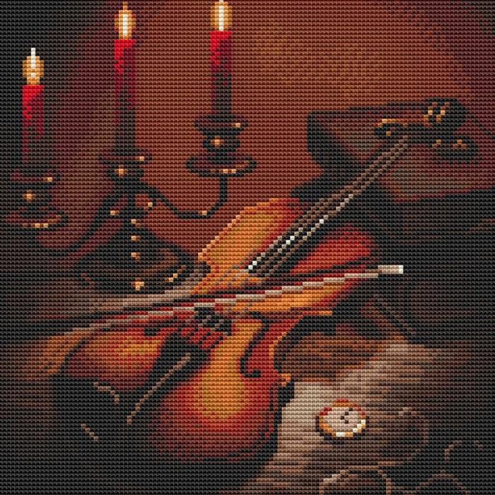 Картины своими руками Molly Картина мозаикой Вечер музыки 30х30 см