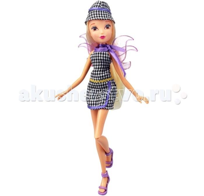 Winx Club Кукла Парижанка Стелла 27 смКукла Парижанка Стелла 27 смWinx Club Кукла Парижанка Стелла идеальные игрушки для детей от 3 лет.  Особенности: Одежда и аксессуары куклы полностью повторяют стиль одноименной героини сериала Winx Club. Продукция сертифицирована, экологически безопасна для детей, использованные красители не токсичны и гипоаллергенны. Платье в клеточку, модная шляпка и стильные туфельки - все это составляет наряд Флоры из Winx Club серии Парижанка.  Фея как и всегда одета скромно и со вкусом.  Кукла обладает подвижными элементами, ножки ее на шарнирах.  У изящной феечки есть в комплекте съемные крылья и подарок для своей хозяйки - модные очки в стиле Винкс.   Высота куклы: 27 см<br>
