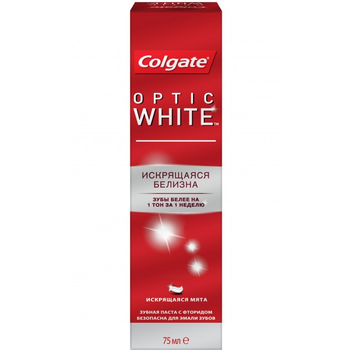 Гигиена полости рта Colgate Зубная паста Optic White 75 мл гигиена полости рта colgate зубная щетка optic white средней жесткости