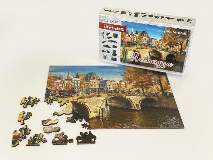Фото - Пазлы Нескучные Игры Деревянный пазл Citypuzzles Амстердам пазлы нескучные игры деревянный пазл citypuzzles лондон