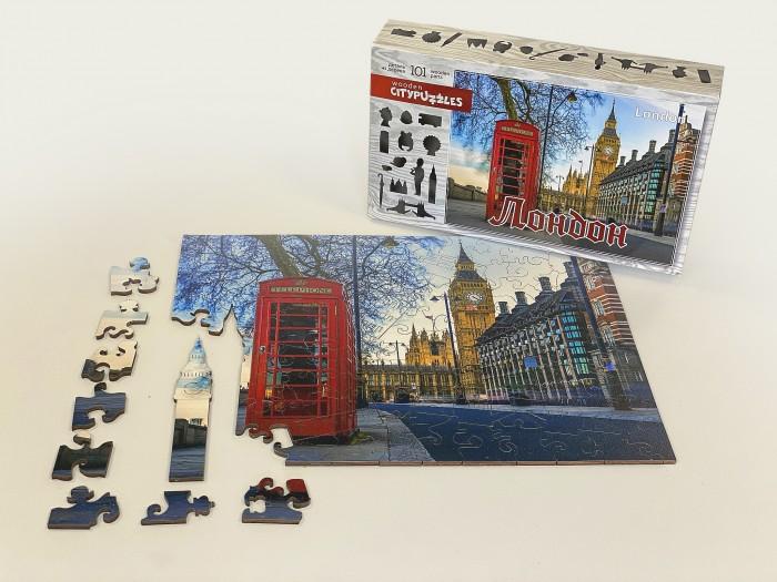 Фото - Пазлы Нескучные Игры Деревянный пазл Citypuzzles Лондон пазлы нескучные игры деревянный пазл citypuzzles лондон