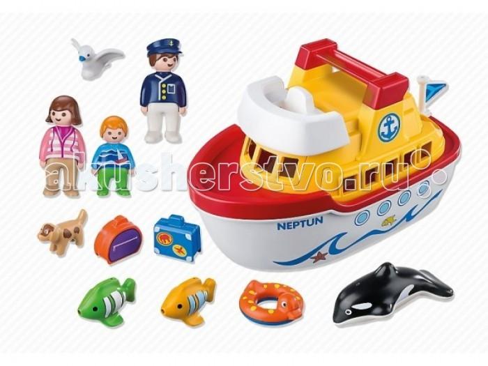 Конструктор Playmobil 1.2.3. Мой корабль с ручкой дл переноски1.2.3. Мой корабль с ручкой дл переноскиНабор Playmobil «Мой корабль» с ручкой дл переноски – еще один универсальный конструктор дл игр в лбое врем года. С ним можно играть зимними и осенними вечерами дома, в жаркие дни на море, в саду, на даче – везде, где захочет ваш малыш. Корабль хорошо держитс на воде. Все детали дл хранени и переноски располагатс внутри каркаса корабл – потому ничего никогда не потеретс.  Описание набора: корабль (съемна верхн палуба, капитанский мостик, вместительна передн палуба, внутри - два сидчих места и места дл багажа, полое дно дл хранени всех деталей набора), 3 фигурки человечков, 5 фигурок животных. Дополнительные аксессуары: 1 чемодан, 1 дорожна сумка, круг дл купани.  Описание фигурок: Человечки: фигурка девочки-пассажирки, 1 фигурка нги, 1 фигурка капитана. У всех фигурок подвижные ноги (что помогает легко размещать фигурки на сидчих местах), дизайн одежды человечков соответствует тематике набора. Животные: 2 рыбки, чайка, касатка, собака. Фигурки касатки и рыбок сделаны таким образом, что они легко держатьс на воде, не заваливась на бок. Все детали выполнены из высококачественного пластика.  В наборе Playmobil «Мой корабль, с ручкой дл переноски» ваш ребенок найдет всё, чтобы создать захватыващу игру!  Сери 1.2.3 Playmobil - потрсащие конструкторы из Германии дл детей от 1,5 до 3 лет! С первой маленькой фигурки и до последней большой детали ребенок будет увлечен и восхищен разнообразием, функциональность, оригинальным дизайном и удобными формами игрушек. Теперь вопрос «Что подарить?» исчезнет у родителей и близких. Конечно, Playmobil!  Продукци сертифицирована, кологически безопасна дл ребенка, использованные красители не токсичны и гипоаллергенны.<br>