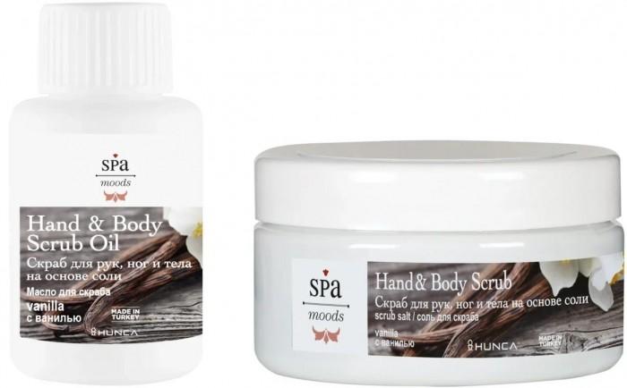 Косметика для мамы Hunca Скраб для рук, ног и тела на основе соли с ванилью Spa Moods 200 мл недорого