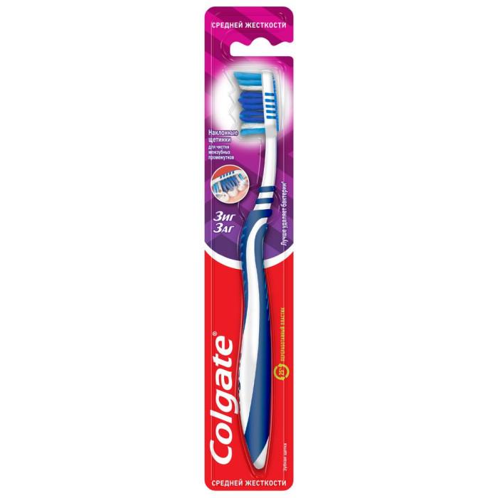Гигиена полости рта Colgate Зубная щетка Зиг Заг средней жесткости colgate зубная щетка optic white 360° colgate средней жесткости
