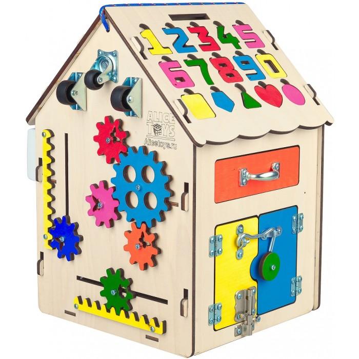 Деревянная игрушка AliceToys Бизиборд Домик модель 1