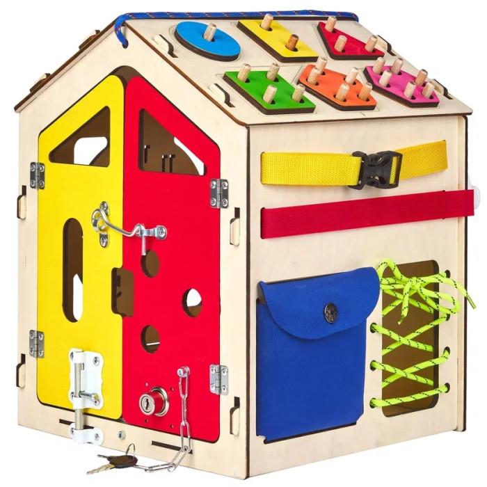Деревянная игрушка AliceToys Бизиборд Домик модель 2