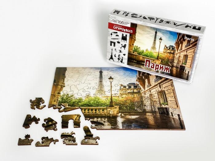 Фото - Пазлы Нескучные Игры Деревянный пазл Citypuzzles Париж пазлы нескучные игры деревянный пазл citypuzzles лондон