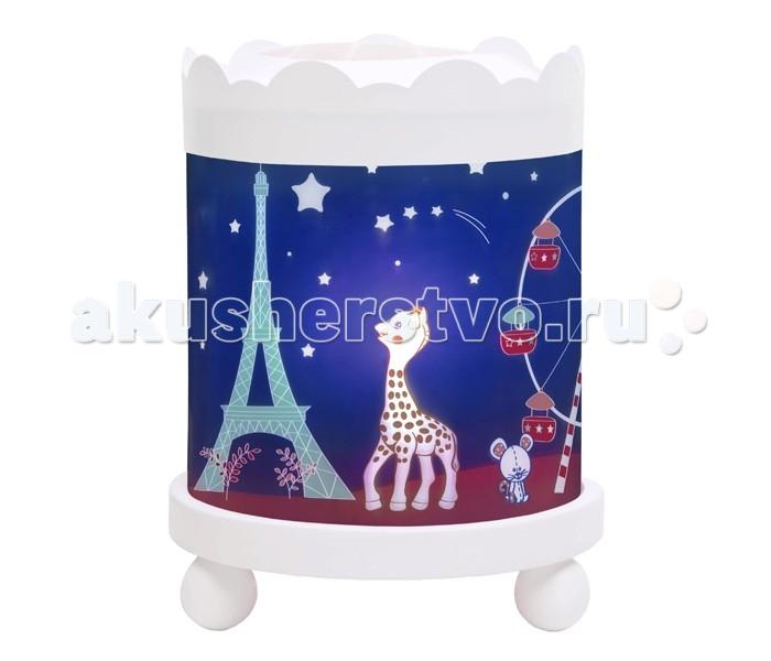 Trousselier Светильник-ночник в форме цилиндра Sophie the giraffe Paris