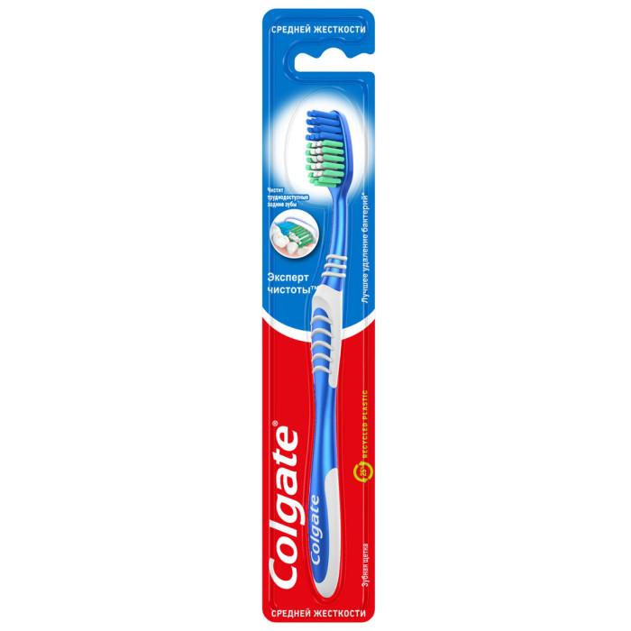 Гигиена полости рта Colgate Зубная щетка Эксперт Чистоты средней жесткости гигиена полости рта colgate зубная паста бережное отбеливание 100 мл