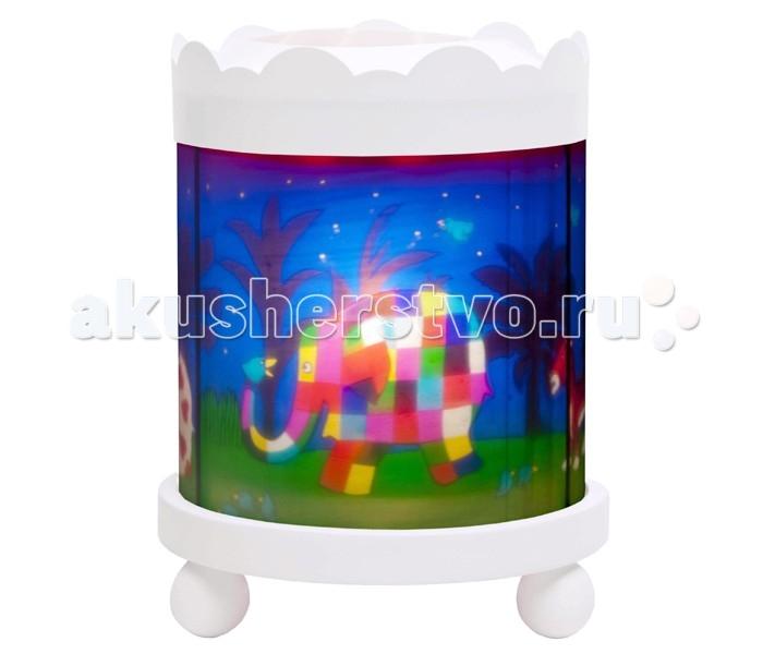 Trousselier Светильник-ночник в форме цилиндра ElmerСветильник-ночник в форме цилиндра ElmerСветильник-ночник в форме цилиндра Trousselier Elmer помогает малышам заснуть. Большинство деток боятся спать при выключенном свете. Для спокойного сна малышам необходимо присутствие родителей, так как зачастую под влиянием детской фантазии они боятся и не любят оставаться на ночь одни. В связи с чем были придуманы и созданы ночники Мягко вращающаяся сцена успокаивающие воздействует на малыша, обеспечивая комфортное засыпание и спокойный сон.  Ночники Trousselier - идеальный аксессуар для детской комнаты. Нежный свет и красочные картинки создадут атмосферу уюта, успокоят и убаюкают кроху.  Характеристики: Ночник-проектор с вращающейся картинкой. Ночник с двойной функцией – вращающаяся картинка внутри, либо, как проектор на стену При удалении белого цилиндра, лампа проецирует на стены изображение героев Цилиндр ночника вращается благодаря системе нагрева от лампочки 12 V 20 W, розетка E 14.C Размер: 17 см x 22 см  Материал: металлический корпус, деревянные ножки и углы, пластиковый, жароустойчивый цилиндр Поставляется в подарочной упаковке Соответствует нормам безопасности: CE EN 60598-2-10  Французский бренд Trousselier вот уже более 40 лет создает уникальные коллекции детских игрушек, товаров для дома и интерьера. Вся продукция изготовлена из натуральных материалов с соблюдением высоких европейских стандартов качества.<br>