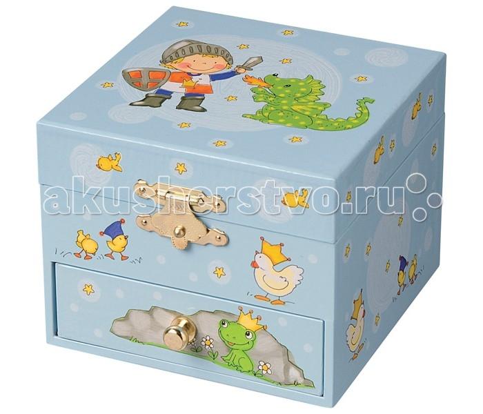 Детская мебель , Шкатулки Trousselier Музыкальная шкатулка-куб Prince & Dragon арт: 111922 -  Шкатулки