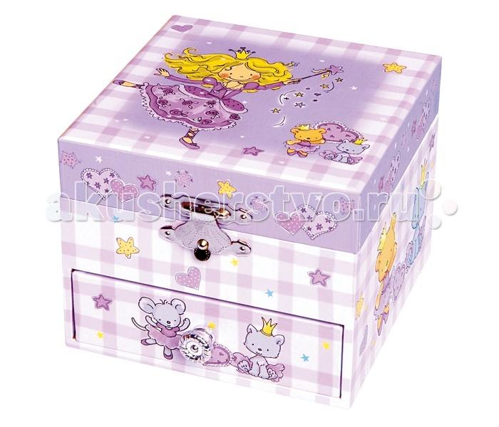 Детская мебель , Шкатулки Trousselier Музыкальная шкатулка-куб Princess арт: 111928 -  Шкатулки