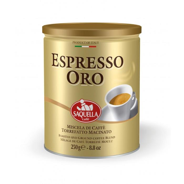 Кофе Saquella Кофе молотый Espresso Oro 250 г кофе индийский молотый espresso blend hindica 200 г