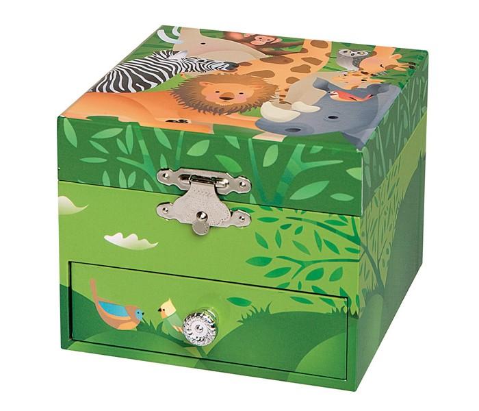 Шкатулки Trousselier Музыкальная шкатулка-куб Jungle trousselier музыкальная мини шарманка elmer© trousselier