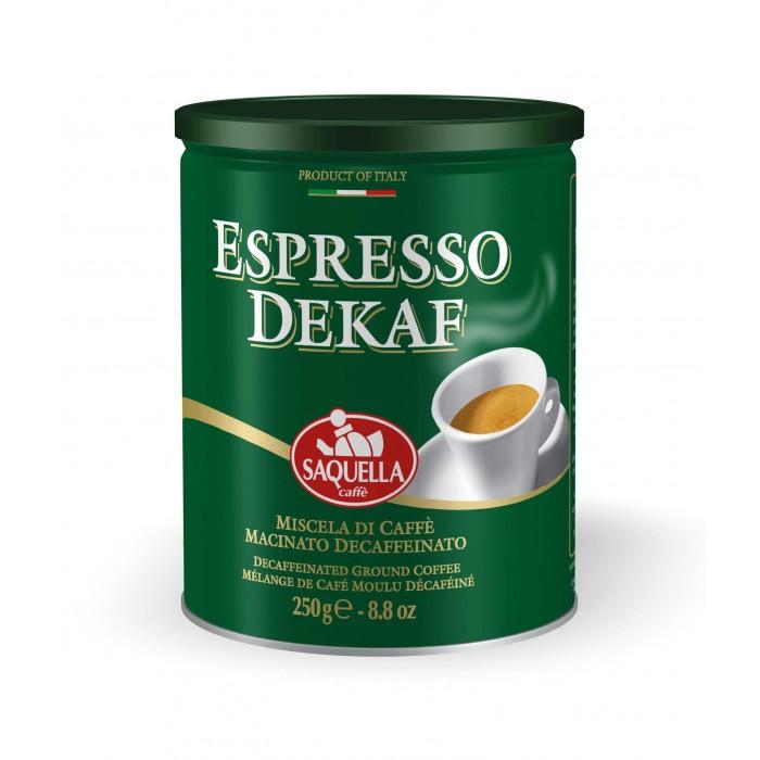 Кофе Saquella Кофе молотый без кофеина Espresso Dekaf 250 г кофе индийский молотый espresso blend hindica 200 г