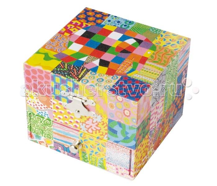 Детская мебель , Шкатулки Trousselier Музыкальная шкатулка-куб Elmer Classic арт: 111964 -  Шкатулки