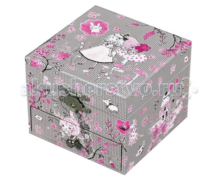 Шкатулки Trousselier Музыкальная шкатулка-куб Alice trousselier музыкальная мини шарманка elmer© trousselier