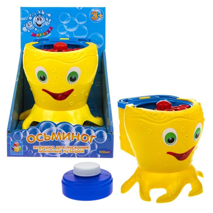 Мыльные пузыри 1 Toy Игрушка для пускания мыльных пузырей Осьминог 100 мл