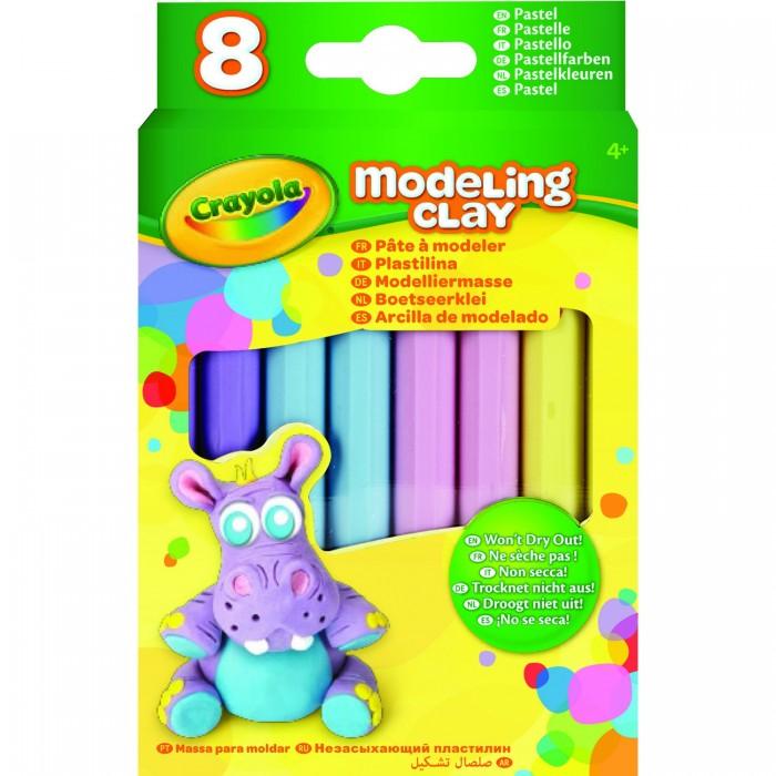 Всё для лепки Crayola Незасыхающий пластилин Пастель, 8 цв всё для лепки спейс пластилин artspace 8 цветов